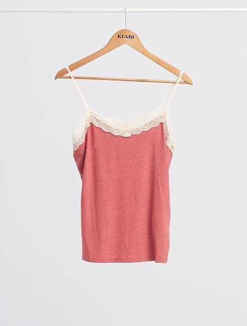 Soepele pyjama van viscose                                                                 ROSE
