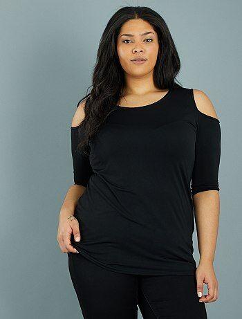 Dames Size+ - Soepele top met blote schouders - Kiabi