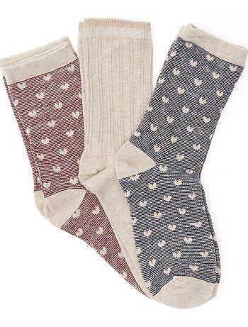 Meisjeskleding 10-18 jaar - Sokken met hartjes - Kiabi