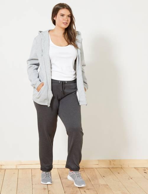 Sportbroek met glanzende details                     GRIJS Dames size+