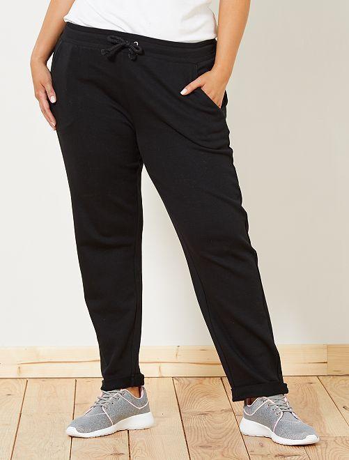 Sportbroek met glanzende details                                         zwart Dames size+