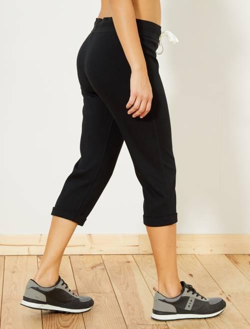 Sportieve stretch driekwartbroek                                         zwart Dameskleding
