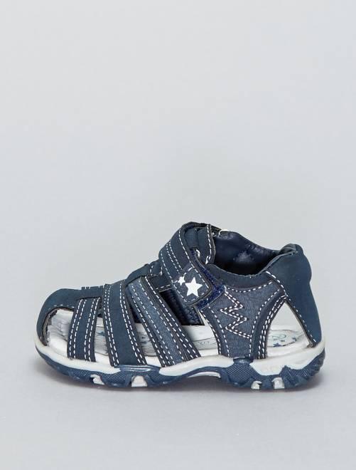 Sportsandalen met klittenband                             marineblauw Jongens babykleding