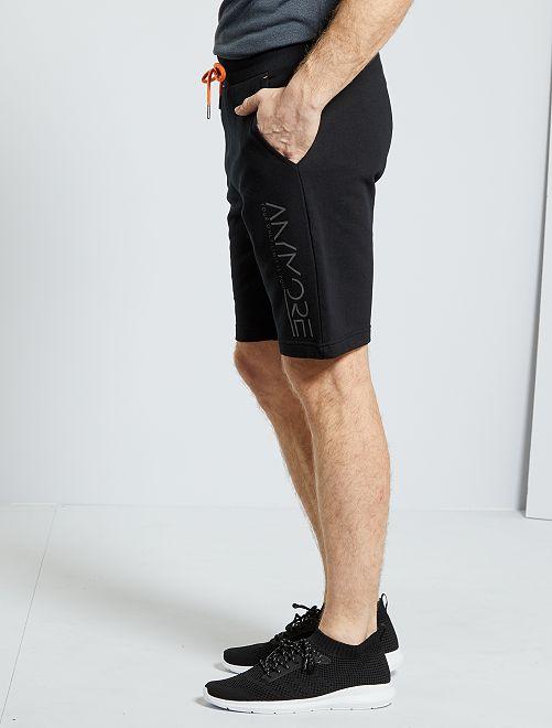 Sportshort van molton                             zwart