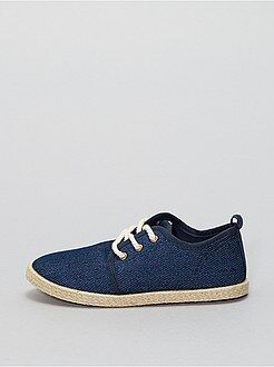Stoffen espadrilles in sneakerstijl - Kiabi