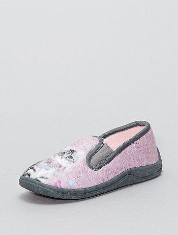 Stoffen pantoffels 'poes' - Kiabi