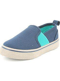 Stoffen slip-on sneakers