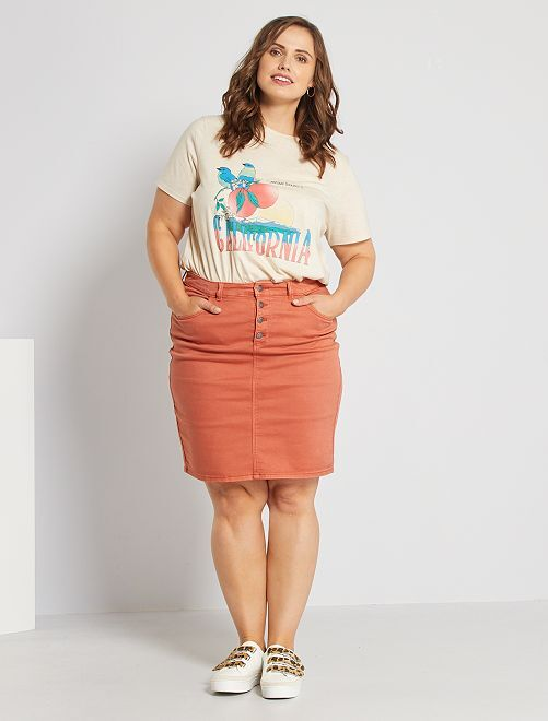 Straight-fit rok                             ROOD