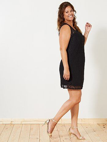 Strakke jurk met kant - Kiabi