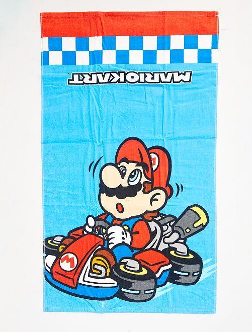 Strandlaken 'Mario Kart'                             BLAUW