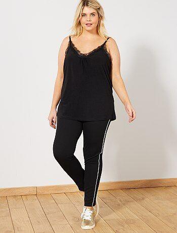 Stretch broek met smalle stroken op de zijkant - Kiabi