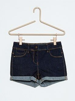 Kinder shorts meisjes - Stretch denim short