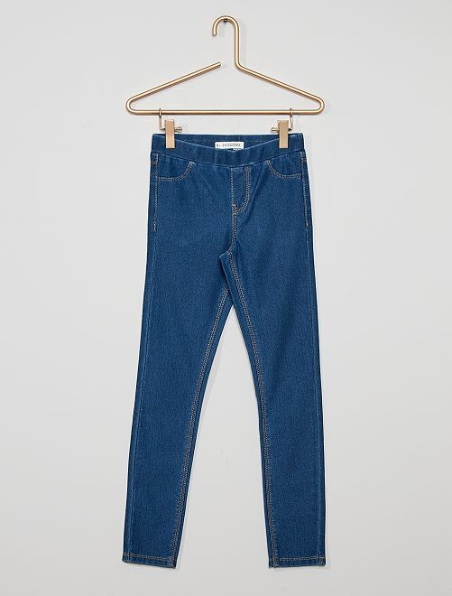 Stretch jegging                                         BLAUW