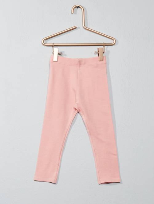 Stretch legging van jersey                                                                                         roze