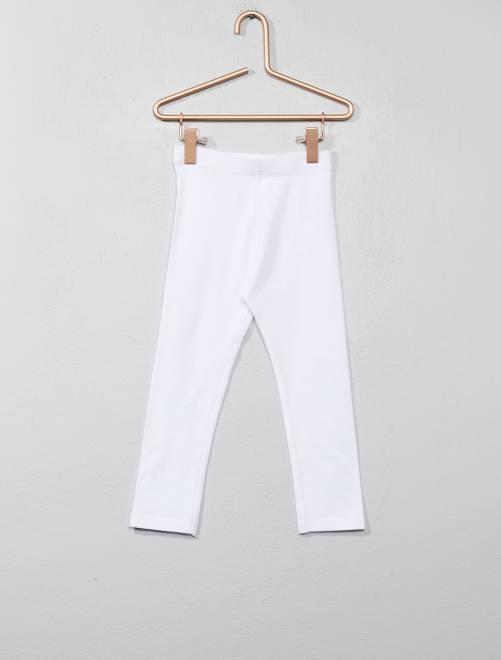 Stretch legging van jersey wit Meisjes babykleding