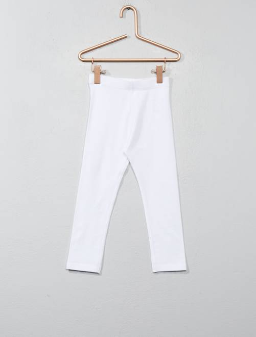 Stretch legging van jersey                                                                                                                             wit