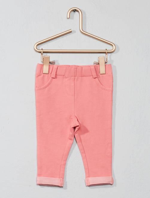 Stretch tregging roze Meisjes babykleding
