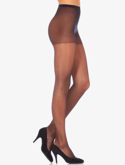 Sublim' panty van het merk 'Dim', 15 D glanzende voile                                                     zwart