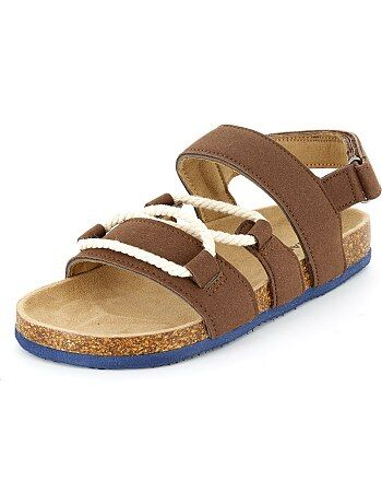Suèdine sandalen met koordjes - Kiabi