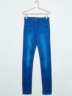 Meisjes jeans - Super skinny jeans met een hoge taille
