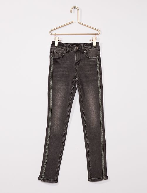 Super skinny jeans voor slanke kinderen                                         GRIJS