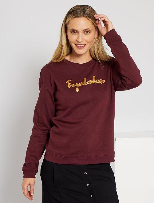 Sweater 'Ecodesign'                                                                                                                                                                             bordeaux