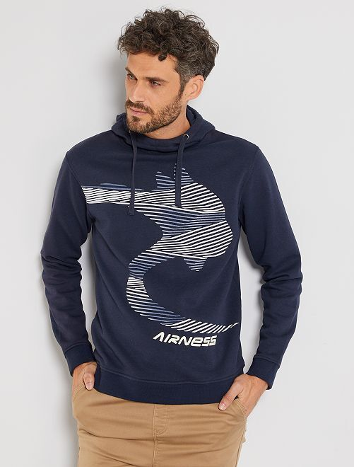 Sweater met capuchon 'Airness'                             BLAUW