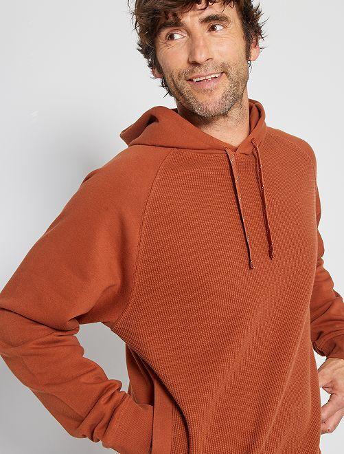 Sweater met capuchon 'Ecodesign'                                                     BRUIN