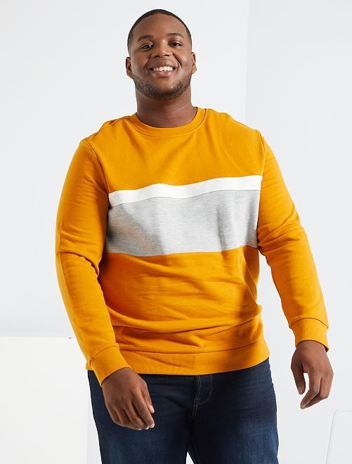 Sweater met color block                     GEEL