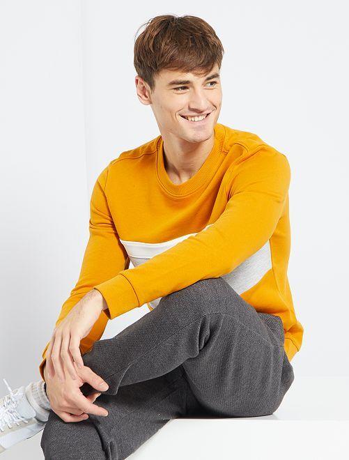 Sweater met color block                             GEEL