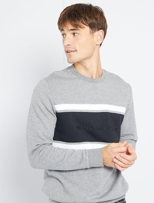 Sweater met color block                                         GRIJS