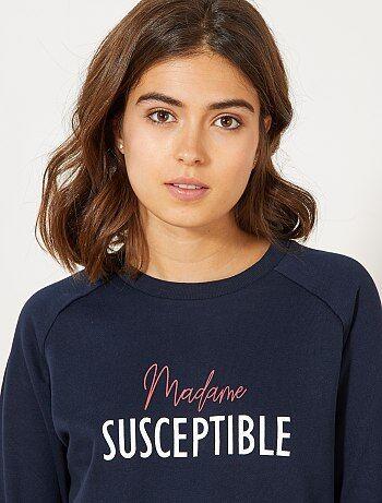 Sweater met een opschrift - Kiabi