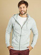 Sweater met een ritssluiting en capuchon