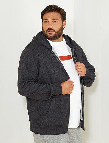 Sweater met een ritssluiting van dunne joggingstof - Kiabi