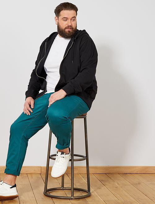 Sweater met een ritssluiting van dunne joggingstof                                 zwart