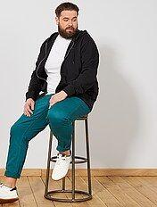 Sweater met een ritssluiting van dunne joggingstof