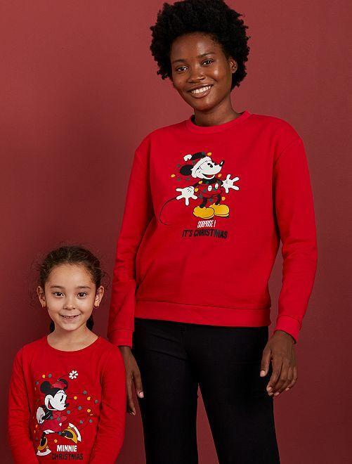 Sweater met 'Minnie'-print                                         ROOD