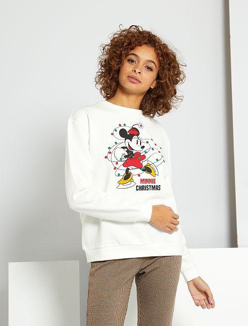 Sweater met 'Minnie'-print                                         WIT