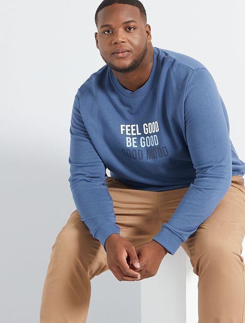 Sweater met opschrift                                                                 BLAUW