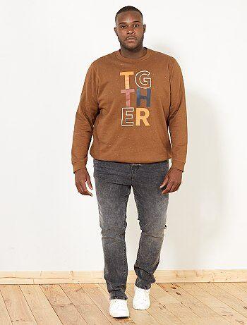 Sweater met opschrift - Kiabi
