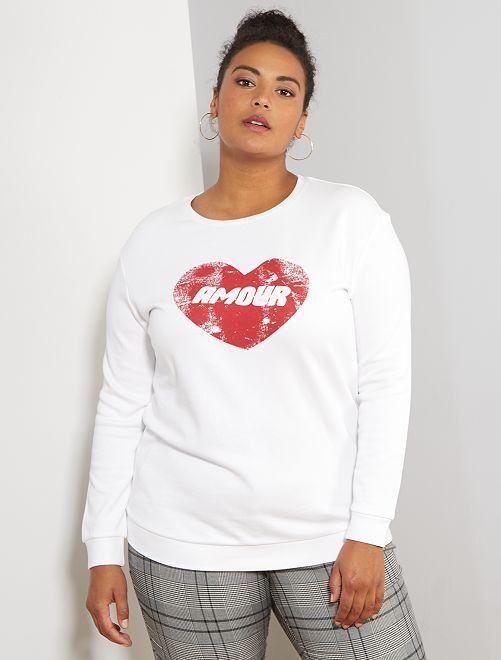 Sweater met opschrift                                                                 WIT