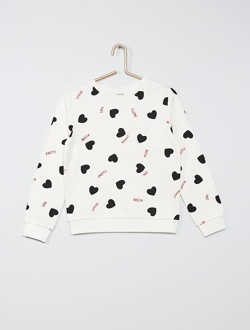 Sweater met print 'Ecodesign'                                                                             BIEGE