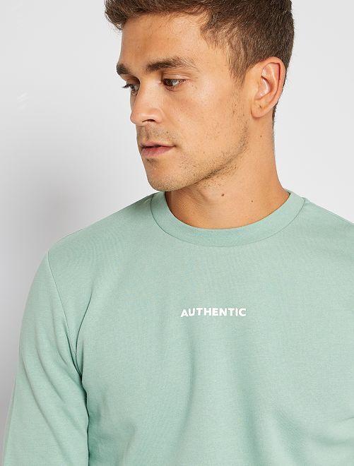 Sweater met print 'Ecodesign'                                                                 GROEN