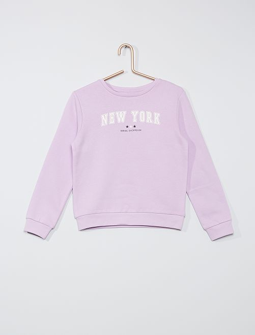 Sweater met print 'Ecodesign'                                                                             PAARS