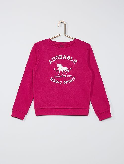 Sweater met print 'Ecodesign'                                                                     ROSE