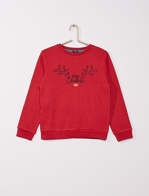 Sweater met print                                         ROOD