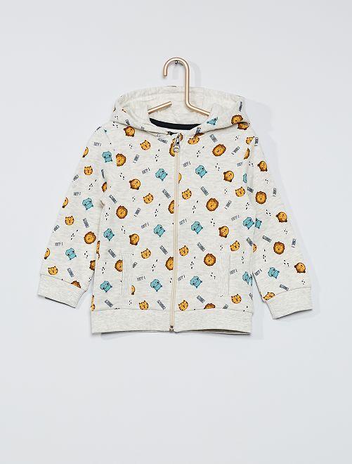 Sweater met rits 'Ecodesign'                                                     BIEGE