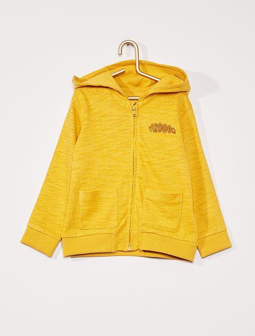 Sweater met rits 'Ecodesign'                                                     GEEL