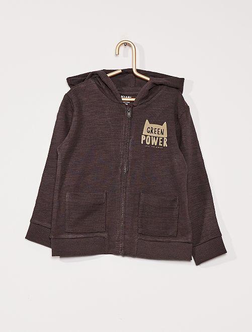 Sweater met rits 'Ecodesign'                                                     GRIJS