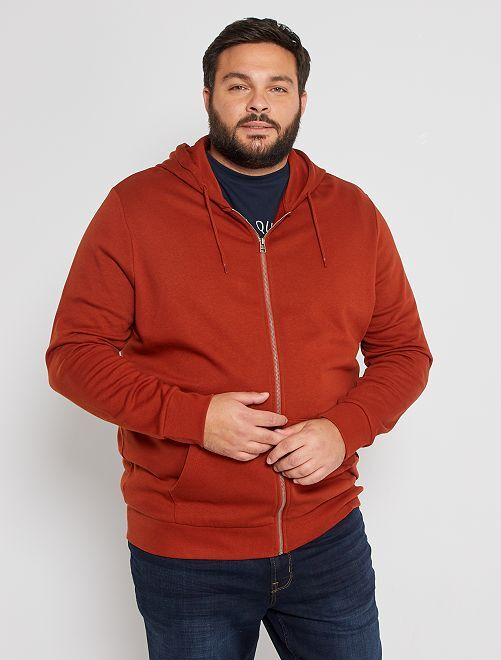 Sweater met rits 'Ecodesign'                                                     ORANJE